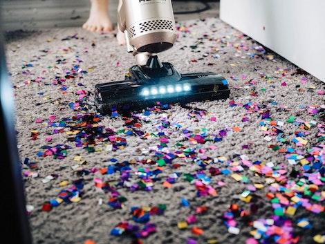 Aspirador limpieza alfombra